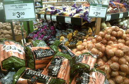 Retail Display of Carron Farms Products